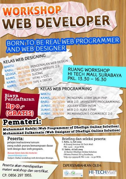 workshop web develop